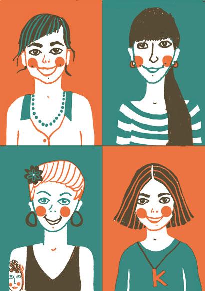 Regina, Andrea, Judith, Kristina